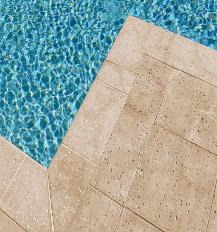 Many Pool Deck Pavers Are Made Of Concrete Because It Is Durable And Does  Not Rot Like Wood Decks.Measures The Pool Deck Paversu0027 Area And Locate