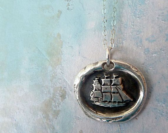 Captain Wentworth's Fine Silver Wax Seal by RenataandJonathan, $67.00 #jewelry