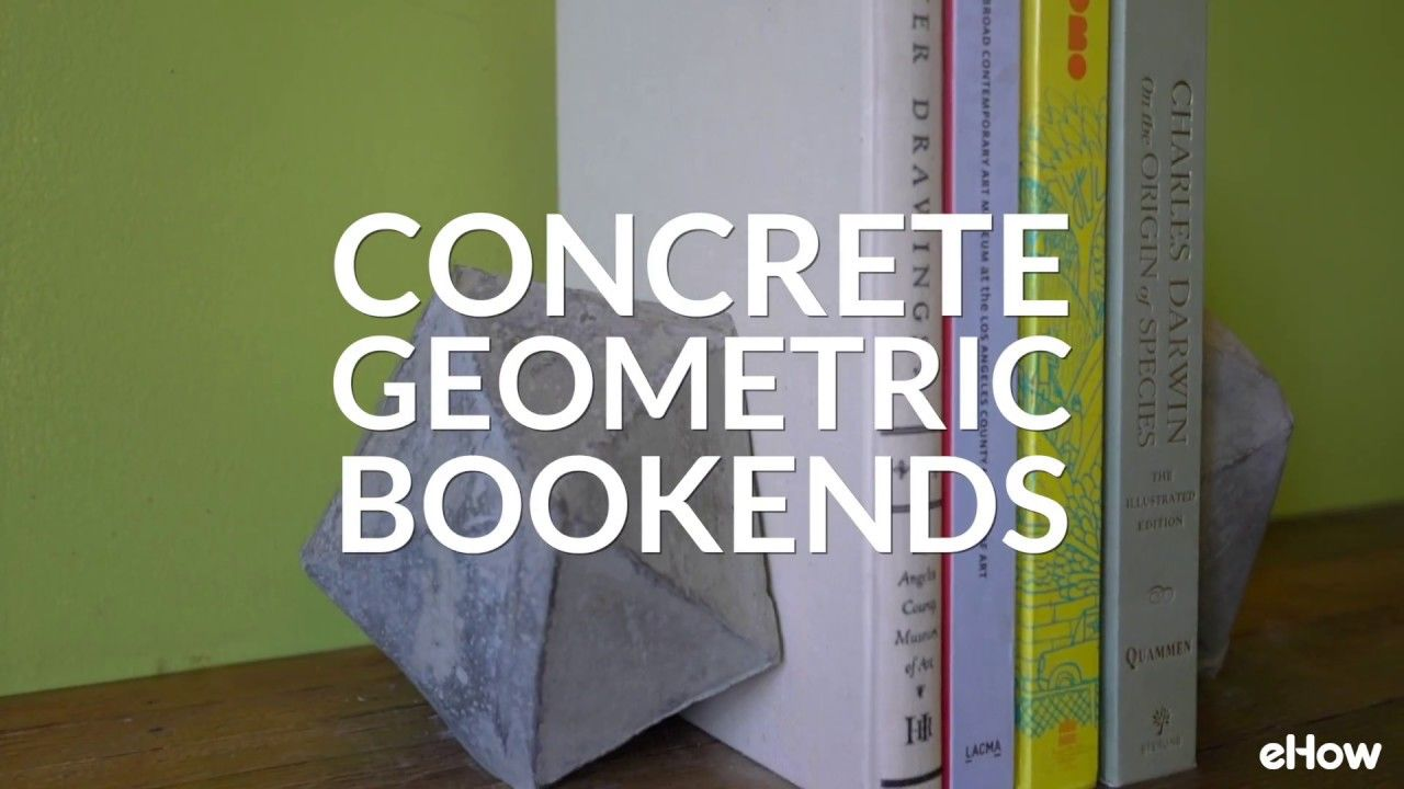 Diy Geometric Concrete Bookends With Images Diy Bookends