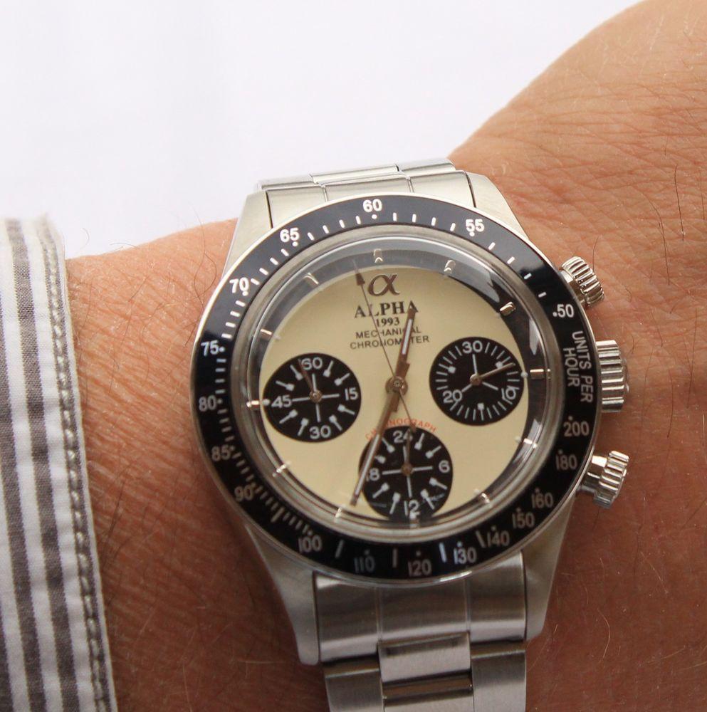 Alpha Daytona Paul Newman mechanical chronograph men's ...