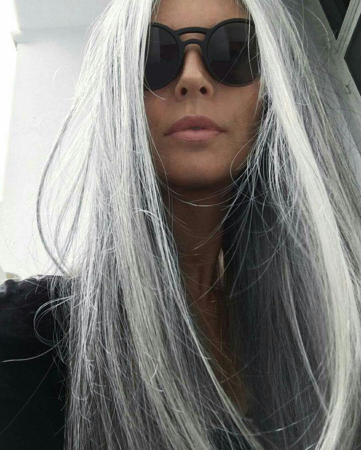 My Inspiration Annika Long Gray Hair Hair Styles Natural Gray Hair