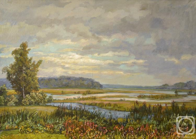 Панов Эдуард. Пейзаж с разливом реки