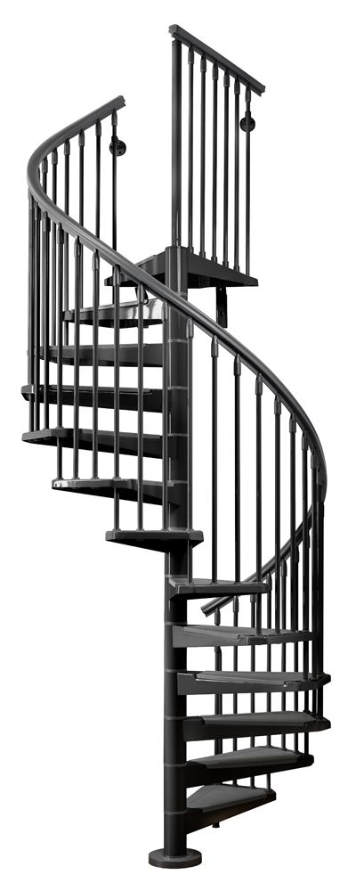 Best Eureka Interior Exterior Painted Steel Staircase Spiral 400 x 300