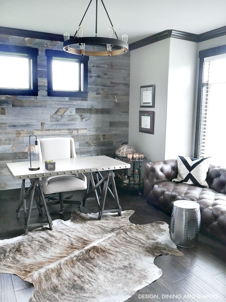 Modern Rustic Decor Living Rooms: Industrial Modern Rustic Office Home Decor. So Beautiful
