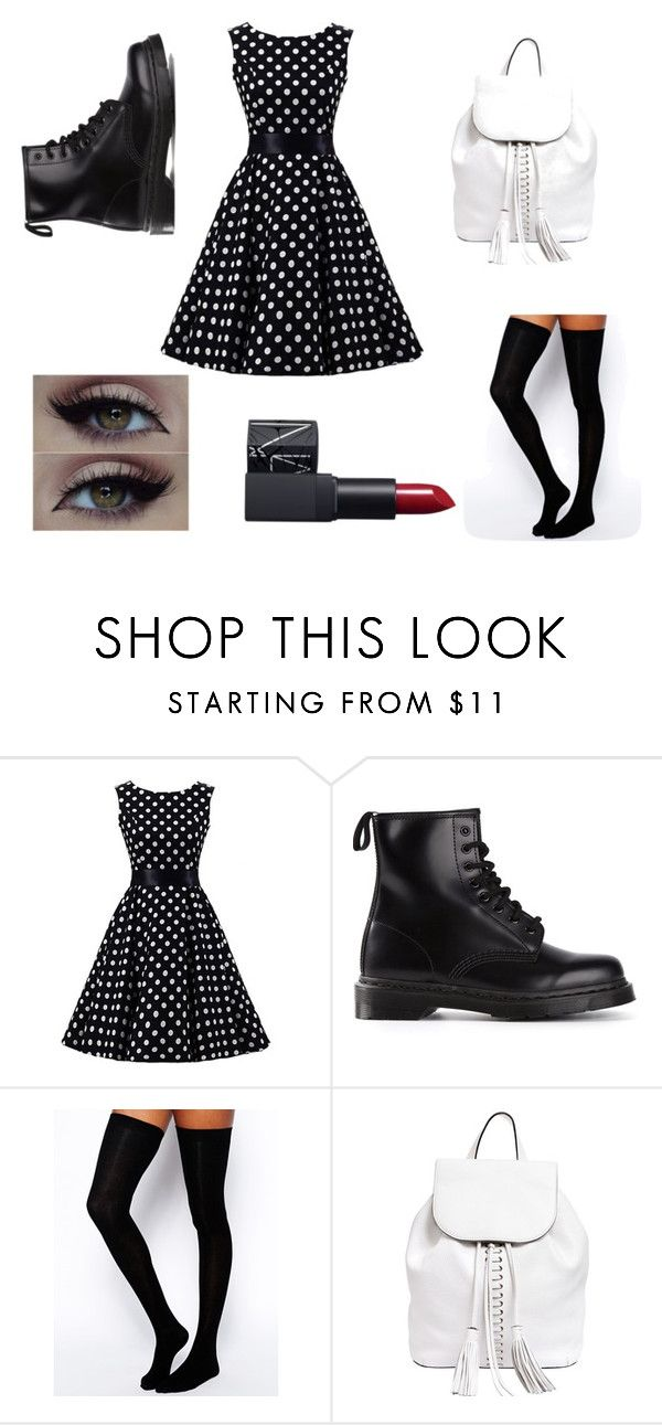 """""""Untitled #9"""" by literal-trash ❤ liked on Polyvore featuring Dr. Martens, ASOS, Rebecca Minkoff, NARS Cosmetics, women's clothing, women's fashion, women, female, woman and misses"""