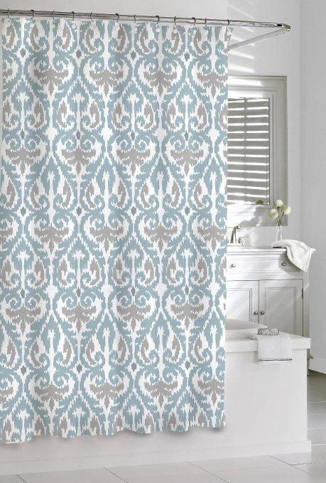 Robot Check Gray Shower Curtains Curtains Contemporary