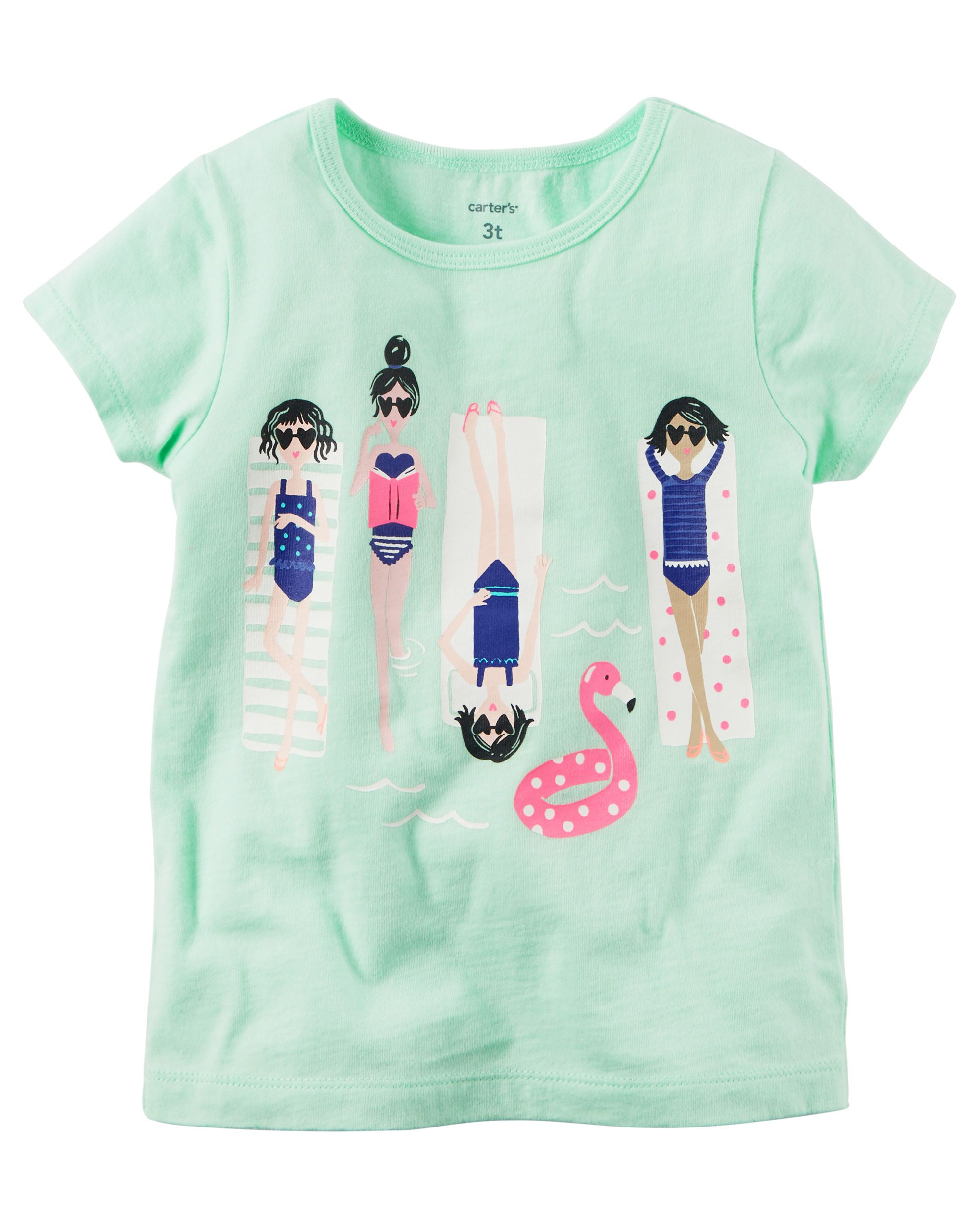Carters Baby Girls Graphic Tee