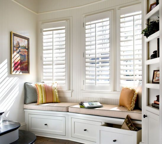 Perfect Shutters For A Window Seat Home Home Decor