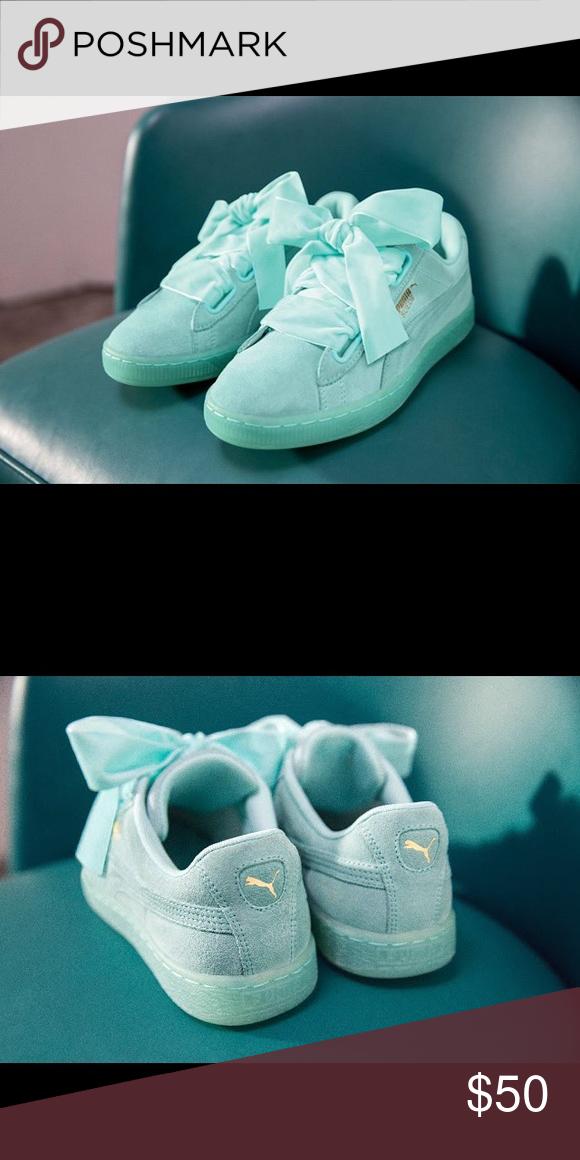 Sneakers In Ribbon Mint Puma New BoxSuede Heart Brand 4Aj5LR