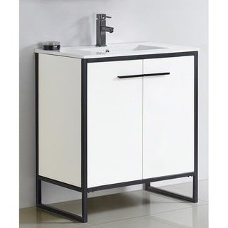 Images Of Shop for Vdara inch White Bathroom vanity Cabinet Set Get free delivery at