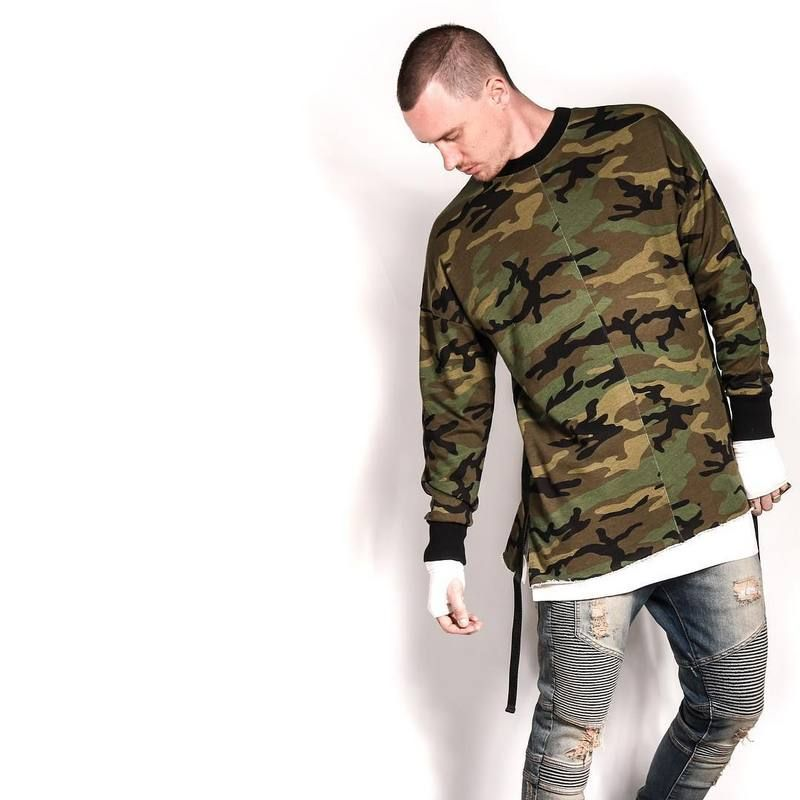 d0bd15edbbfbd yeezy oversized camo hip hop justin bieber clothes street wear kpop ...