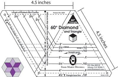 Marti Michell One-derful One-Patch- 60 Degree Diamond and