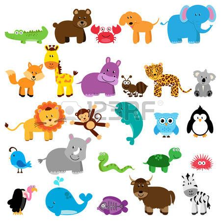 Animal Vector Collection Of Animals Illustration Monkey Illustration Animal Clipart Cute Animal Illustration