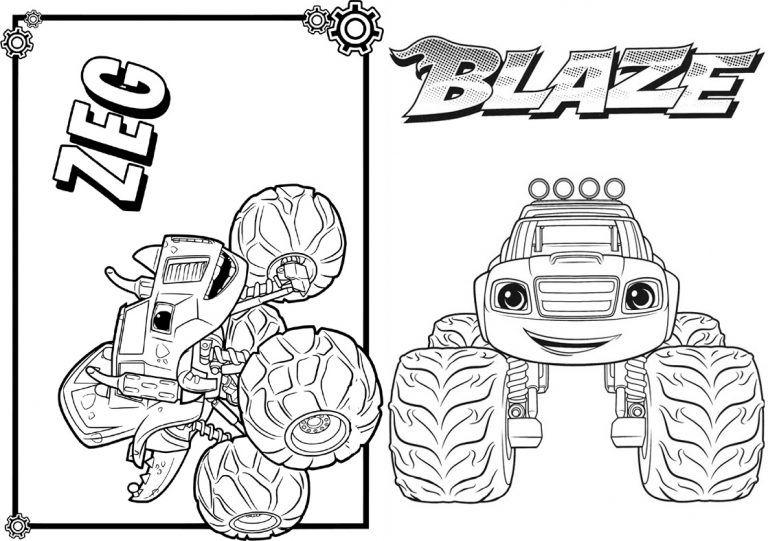 1 Livrinho Para Colorir Blaze And The Monster Machines Colorir E