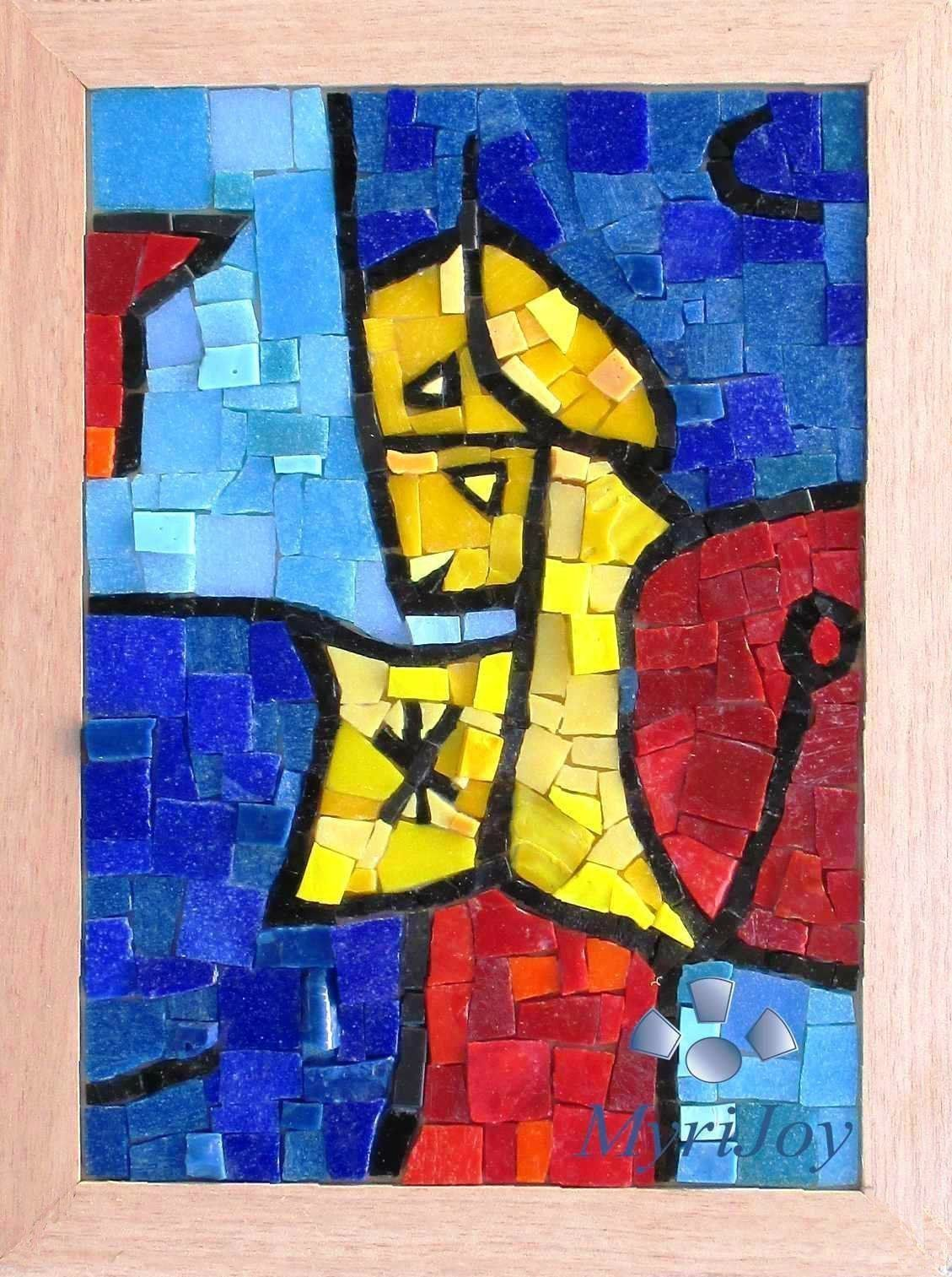 Mosaic glass kit DIY: Astral Sentinel - PAUL KLEE - 9\