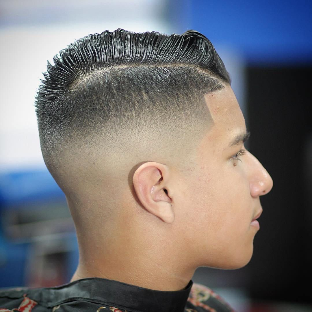High fade with side part for guys ethanus hair pinterest high