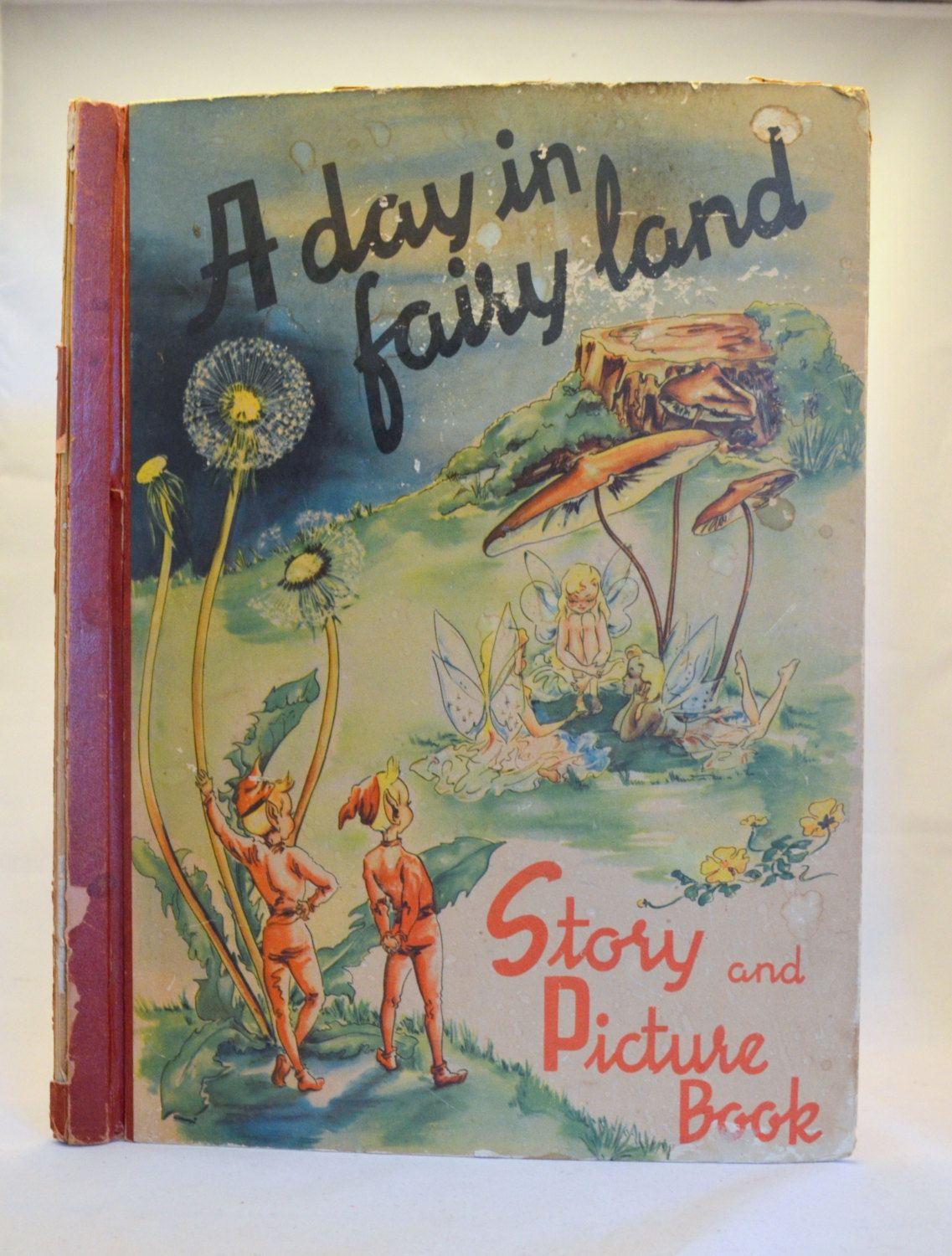 Vintage Oversized Book A Day In Fairy Land Story And Picture Ana Mae Seagren Sigrid Rahmas 1940s By UpswingVintage On Etsy