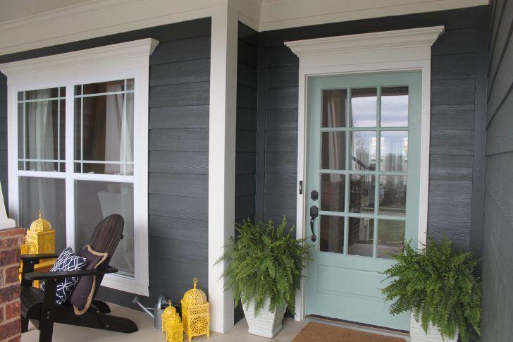Awesome Grey House Front Door Color 57 Grey Brick House Front Door ...