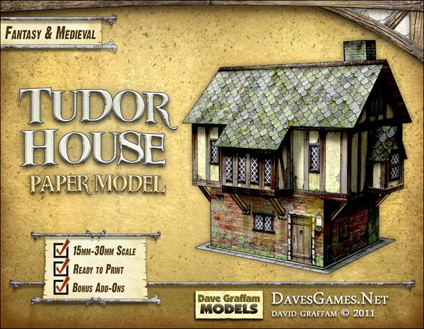 Cardboard model tudor house