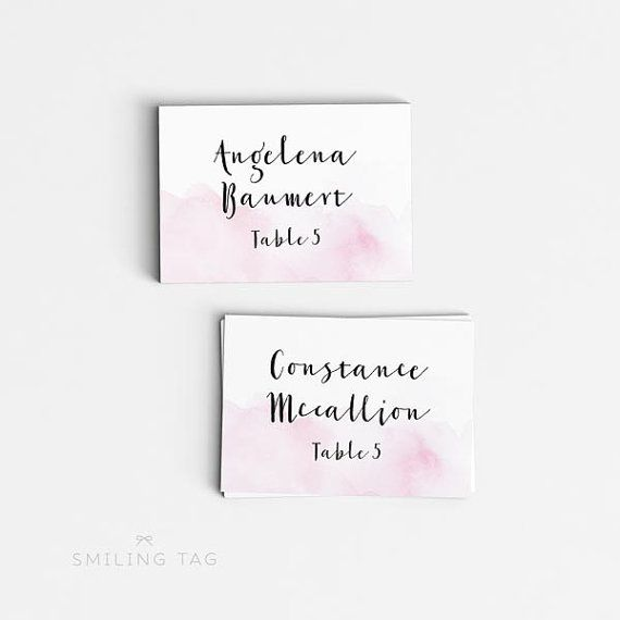 Personalized Printable Wedding Place Cards Wedding Escort Cards - Wedding invitation templates: wedding place card size