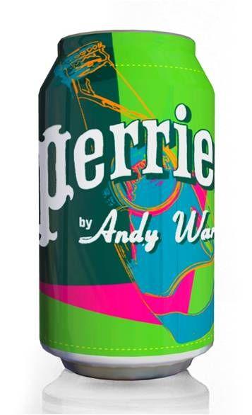 andy warhol perrier bottles
