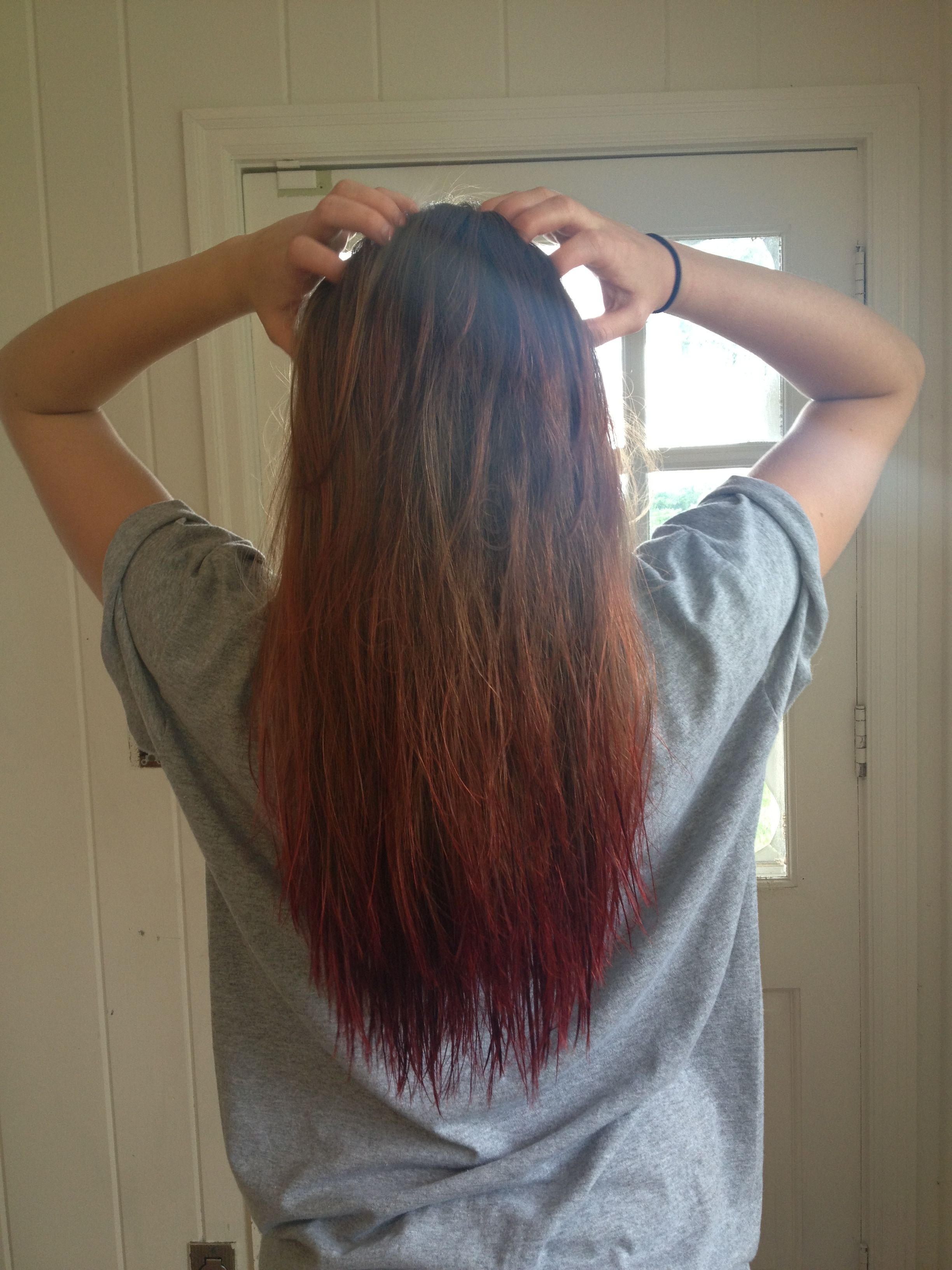 Dip Dye With Black Cherry Kool Aid Sorta Ombre So Cute Kool Aid Hair Dye Kool Aid Hair Brown Curls