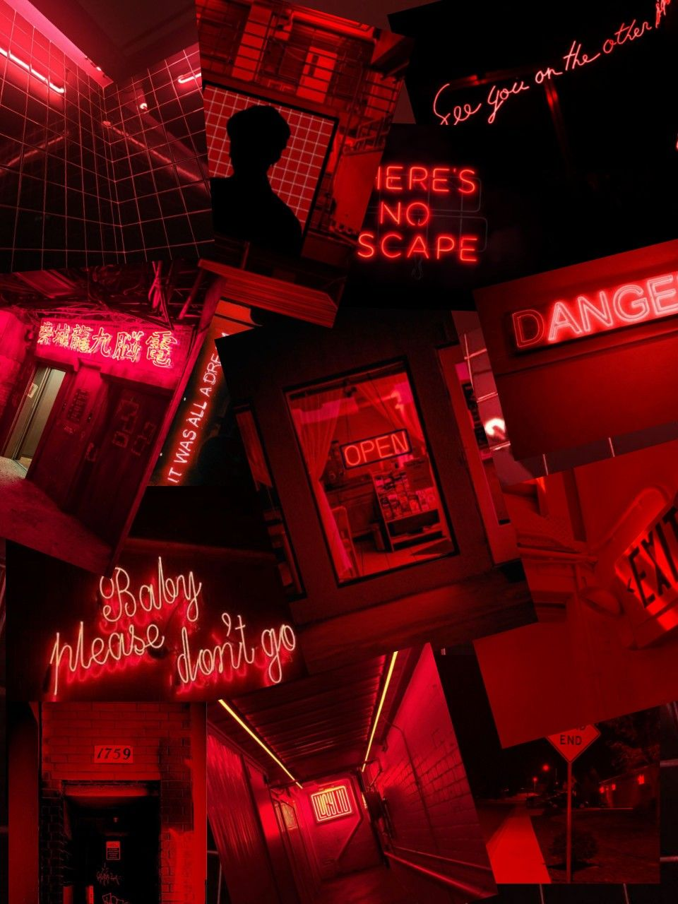 Aesthetic Red Aesthetic Grunge Neon Aesthetic Red And Black Wallpaper