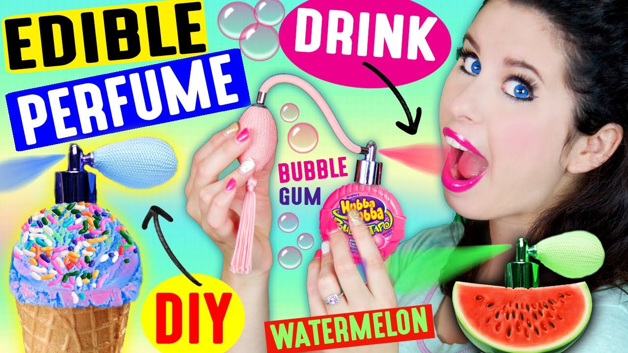 DIY EDIBLE PERFUME Spray In Your Mouth Drink Fragrance