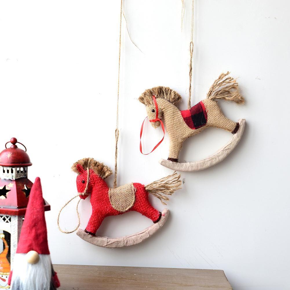 Frohe Weihnachten Anhänger.Günstige Trojaner Pferd Frohe Weihnachten Dekorationen Ornament