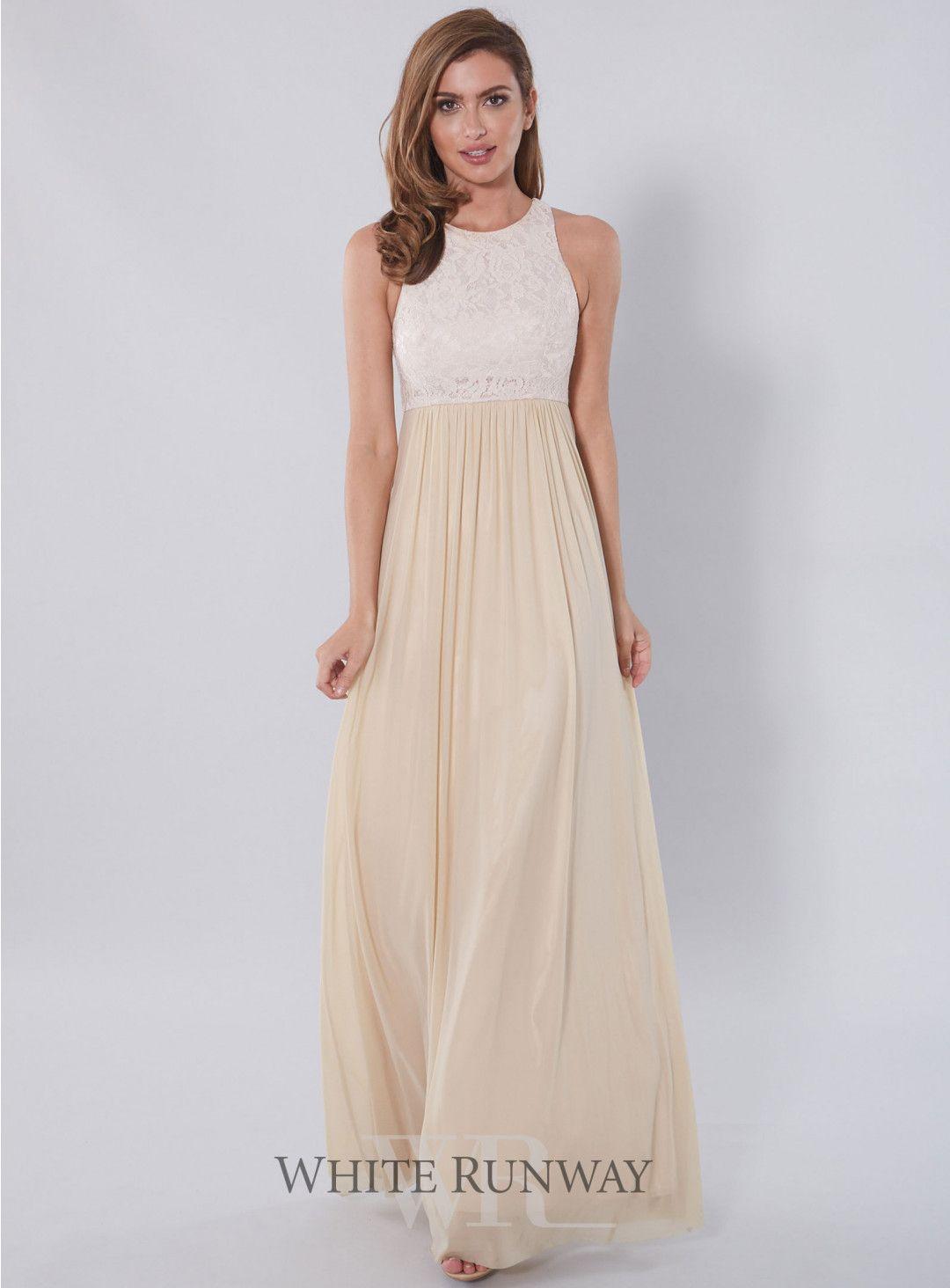 Aneeta lace dress beautiful full length bridesmaid dress by