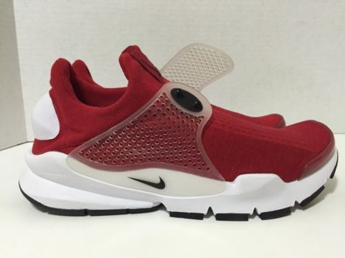 NIKE SOCK DART SZ 12 GYM RED BLACK WHITE 819686 601