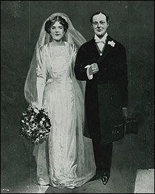 Sketch Of Winston Churchill And New Bride Clementine 1908