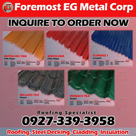 Long Span Colored Metal Roofing Supplier Architecture Engineering Metro Manila Philippines Evergloryroofi In 2020 Roofing Specialists Roofing Roofing Systems