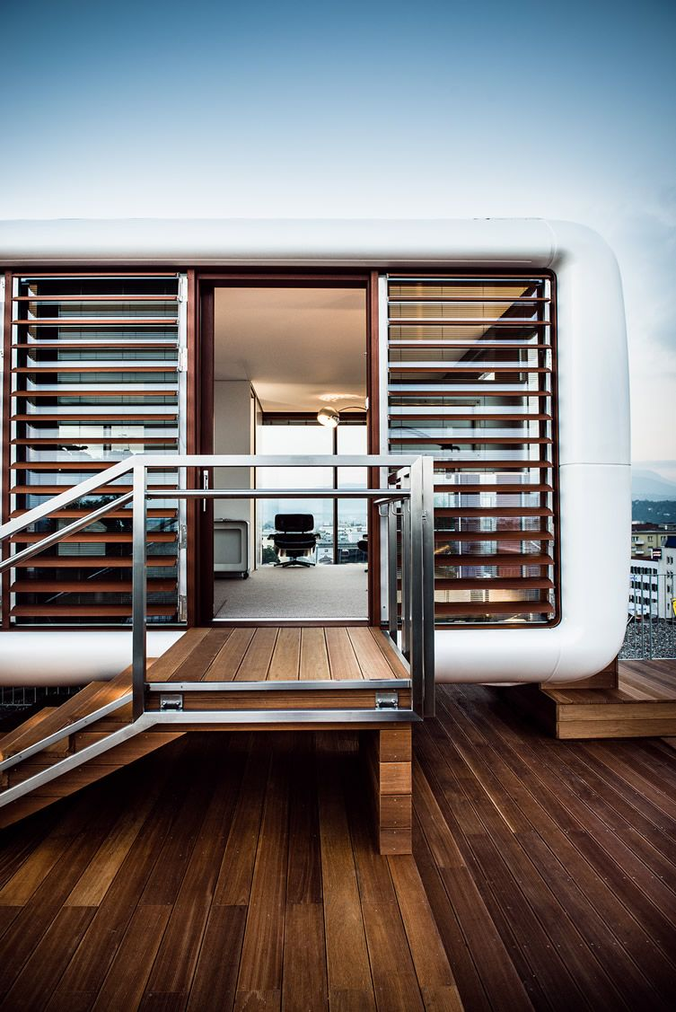 Container Haus Graz Rooftop Loftcube At Hotel Daniel Graz Is The Latest Piece Of