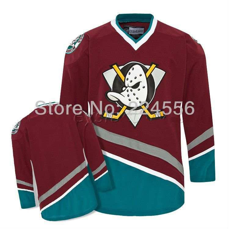 Find More Sports Jerseys Information About Custom Hockey Mighty Ducks Movie Jersey Stitch Sewn Red Personalized Hock Jersey Hockey Jersey Nhl Jerseys
