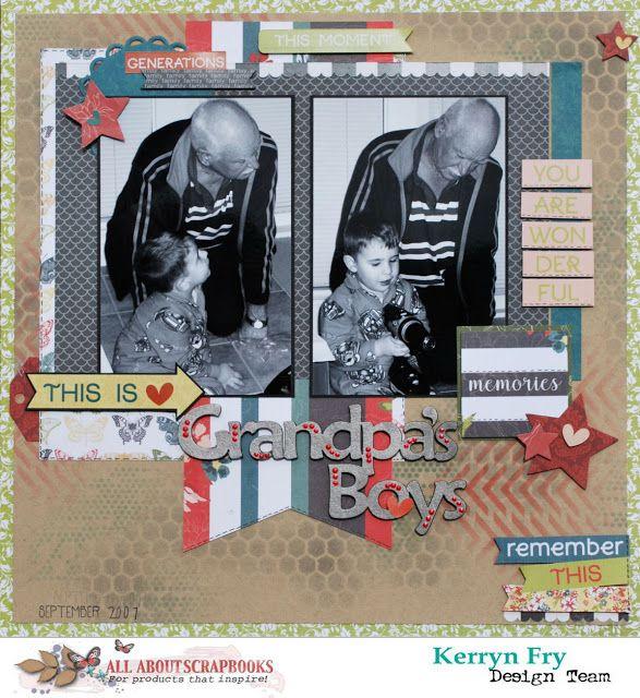 Grandpa's Boys with Photo Play Memory Lane by Kerr