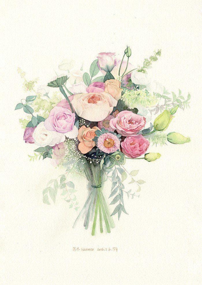 Открытки с днем рождения цветы акварель, сделать бумаги для