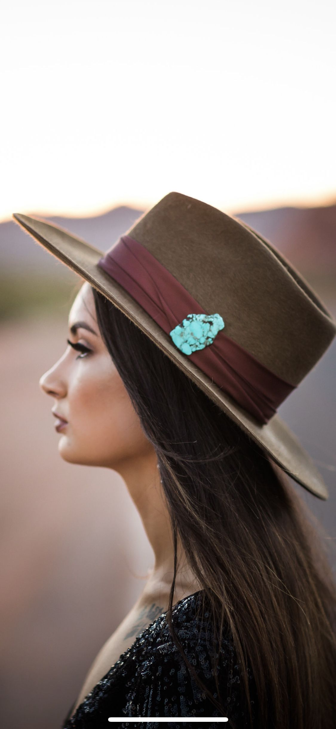 e6f0e9606d4e2b Western fashion, cowboy hat, turquoise jewelry, squash blossom, Louis  Vuitton, beadwork