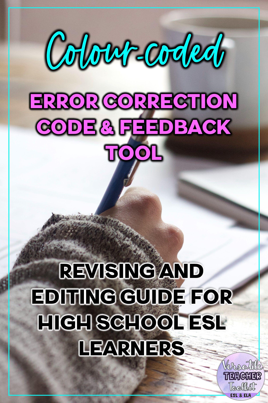 Colour Coded Error Correction Code Feedback Cards Writing Skills Writing Skills Teaching Teens Teacher Toolkit [ 2813 x 1875 Pixel ]