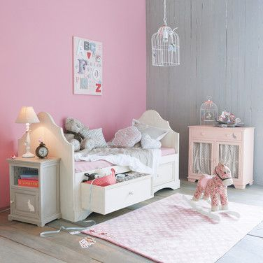 Un chambre rose et gris | Room, Kids rooms and Bedrooms