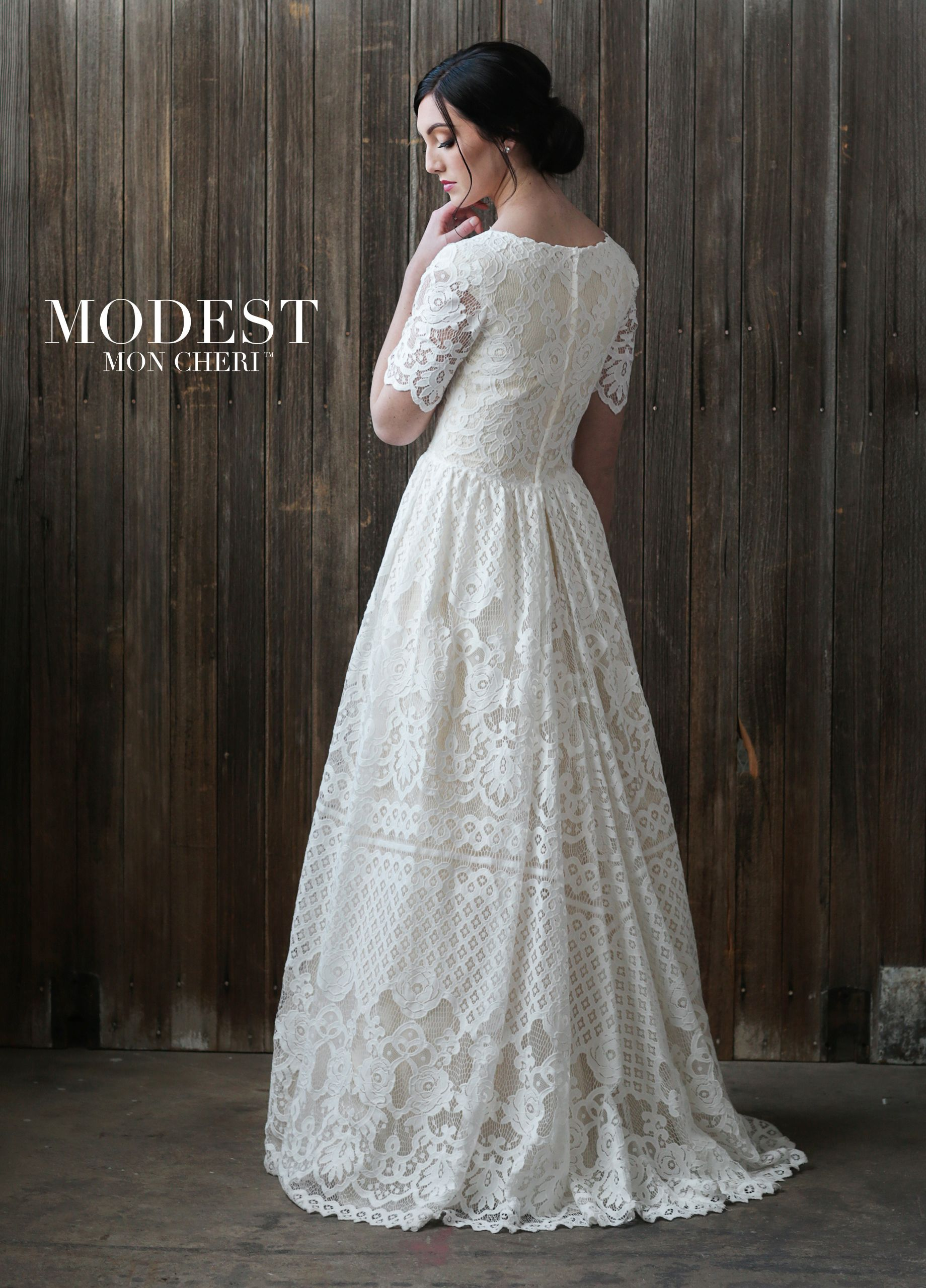 Lace cap sleeve a line wedding dress  Lace Aline Conservative Wedding Dress  TR  Henry Fairy Tail