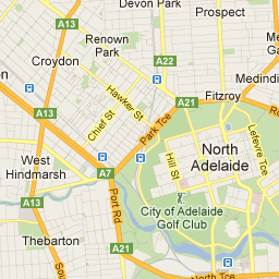 City of Adelaide Maps interactive click on Park Lands Trail map