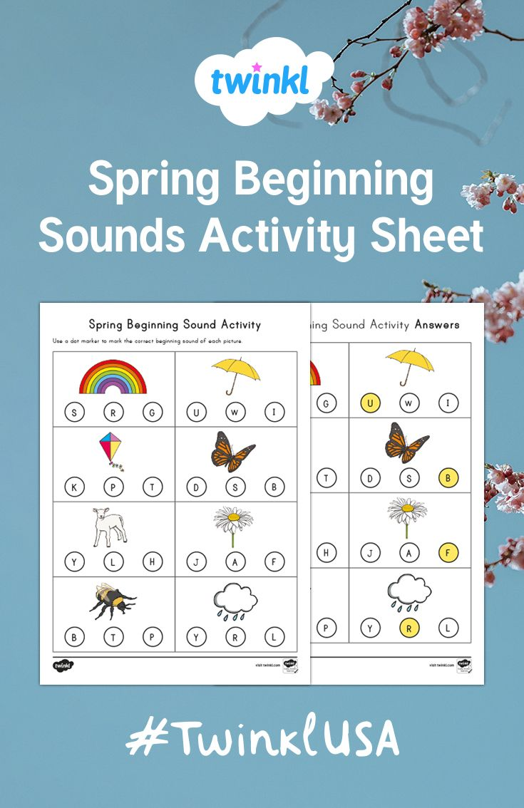 Identify the correct beginning sound with this fun activity sheet ...