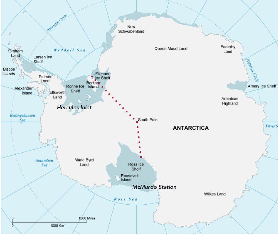 Berkner Island Map