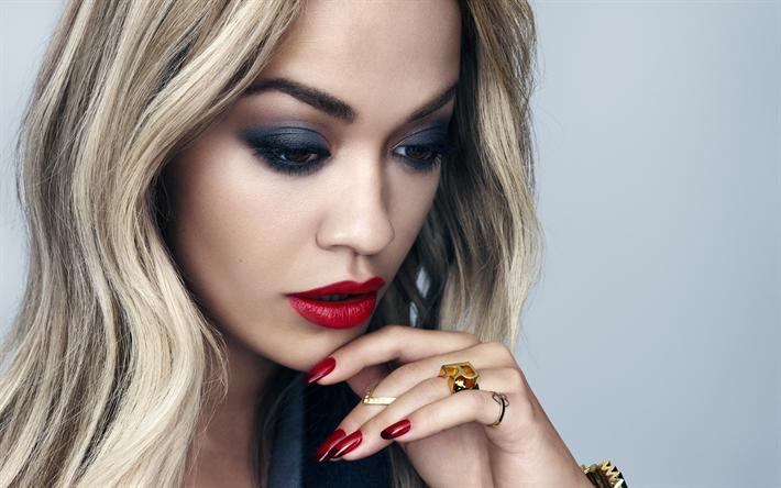 Scarica sfondi 4k, Rita Ora, 2018, servizio fotografico, trucco, cantante britannico
