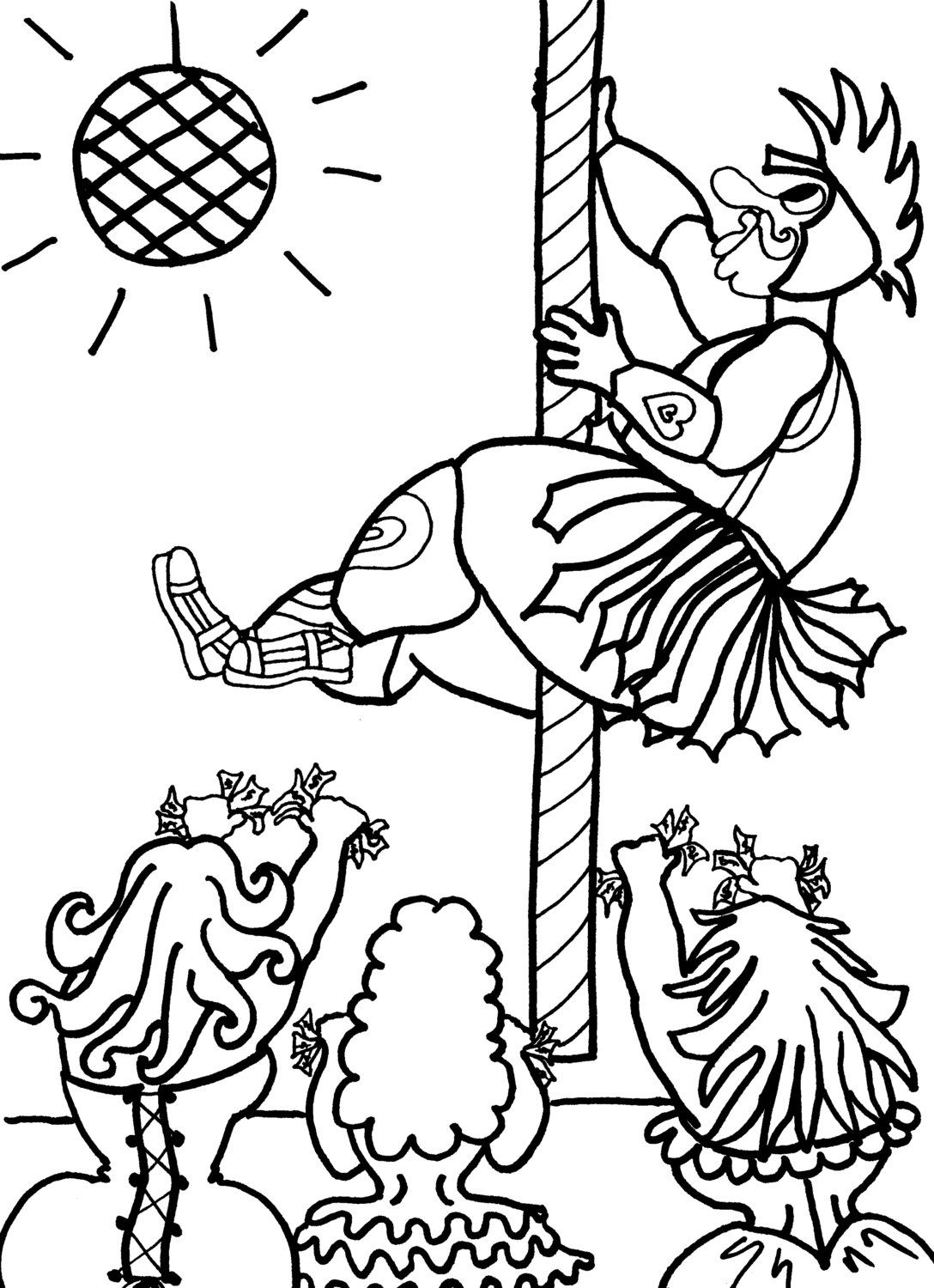 Gladiator Stripper Boy - Sexy Coloring Pages for Adults from the ...