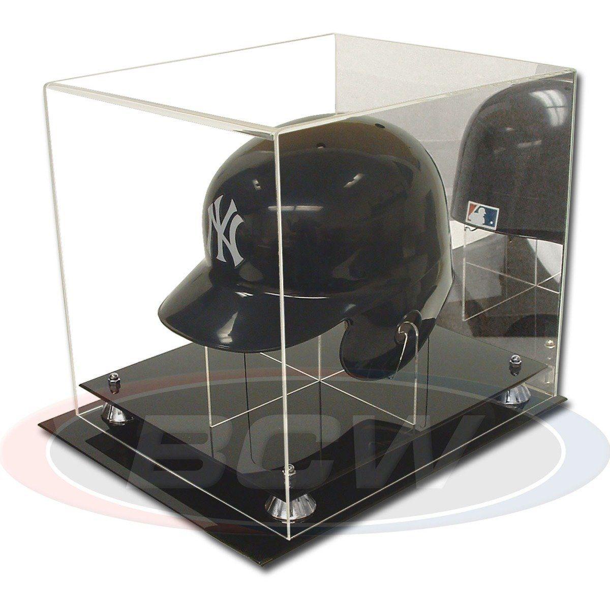 Acrylic Baseball Helmet Display In 2020 Baseball Helmet Sports Memorabilia Display Memorabilia Display