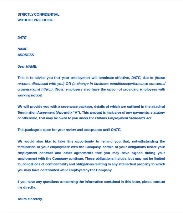 termination letter free word pdf documents download festival - employee confidentiality agreement