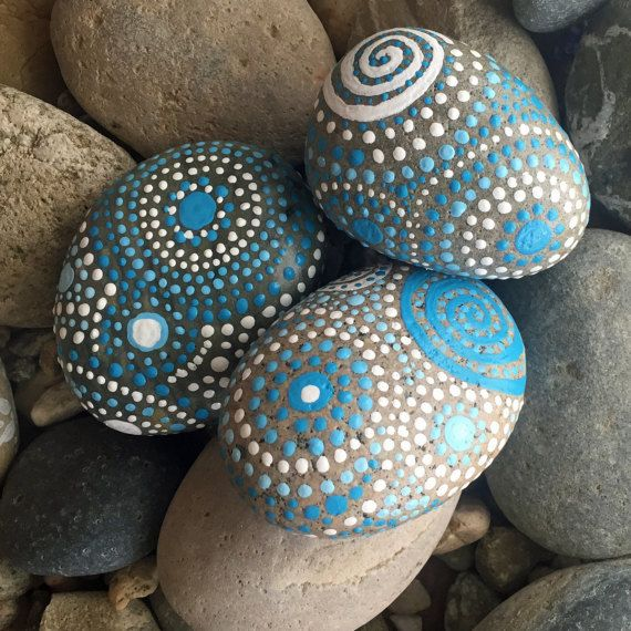 Home Decorators Collection Coupon Free Shipping: Painted Rocks, Mandala Inspired Design, Natural Home Decor