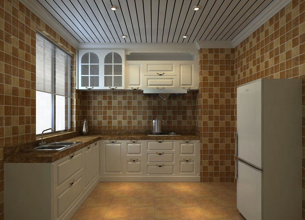 It S Standard Operating Procedure To Paint Your Walls A Color While Maintaining The Ceiling White We Ve Kitchen Ceiling Design Kitchen Design Kitchen Ceiling